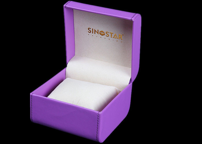 Durable Women Watch Box Luxury Waterproof Velvet Inside For Presentation Gift