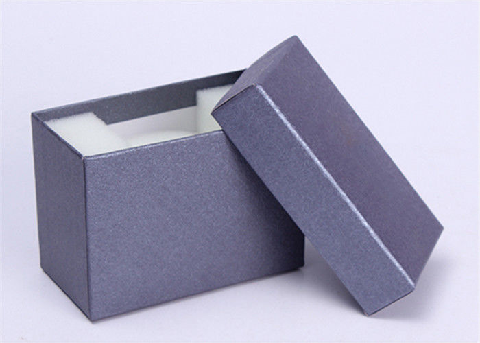 Grey Paper Wrist Watch Box , Custom Logo Color Personalized Mens Watch Box