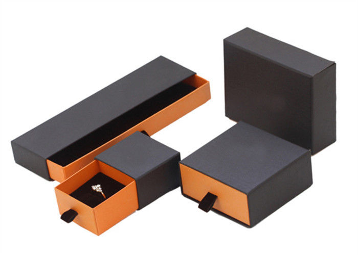 Recyclable Brown Cardboard Jewelry Boxes , Portable Empty Jewelry Gift Boxes