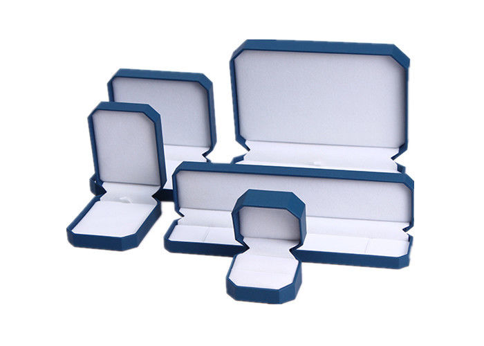 Waterproof Earring Jewelry Box Organizer , Blue Plastic Bracelet Storage Box