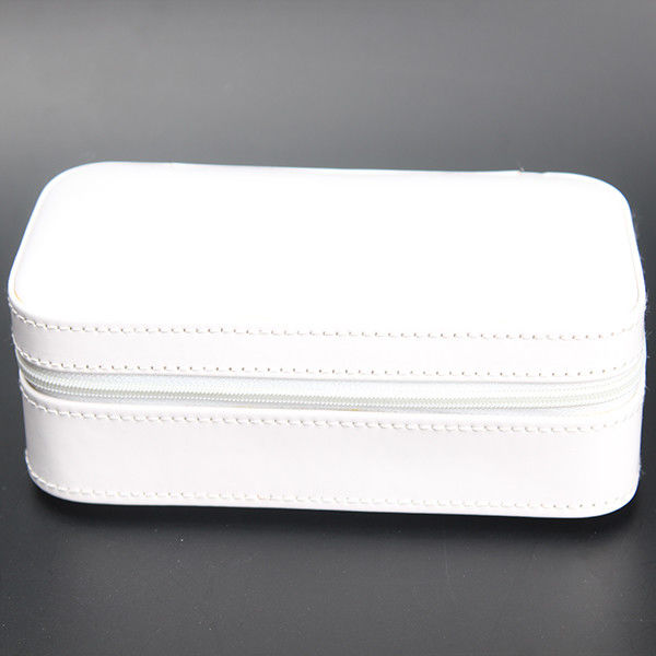 Durable Watch Case Holder Box , White PU Leather Velvet Women'S Watch Storage Box