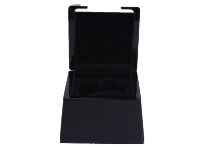 Custom Made Fashional Wooden Watch Box Black Recyclable For Presentation Gift